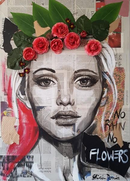 NO RAIN NO FLOWERS - Print